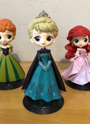 Принцессы Disney фигурки героев Холодное сердце, Эльза, Анна