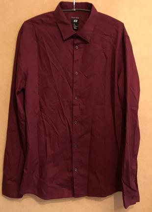 Рубашка бордовая мужская размер L