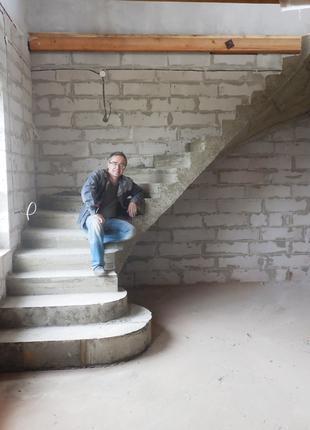 БЕТОННАЯ ЛЕСТНИЦА • Г/П -образная Лестница под ключ • за 5 - 7 дн
