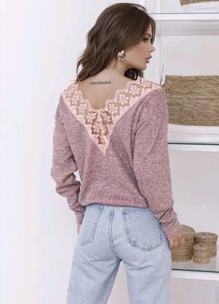Женская Ангоровая кофта свитер толстовка