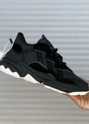 Кросівки adidas ozweego black white кроссовки