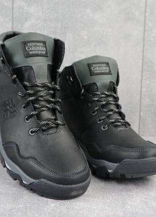 Мужские зимние ботинки из натуральной кожи barzoni 240