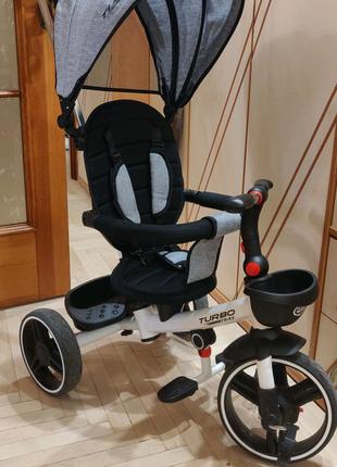 Детский трехколесный велосипед Turbo Trike M 5447PU-19