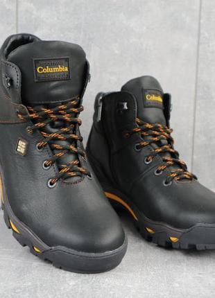 Мужские зимние ботинки из натуральной кожи barzoni 330
