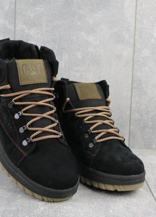 Мужские зимние ботинки из натуральной кожи crossav 322