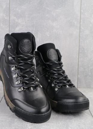 Мужские зимние ботинки из натуральной кожи norman 016