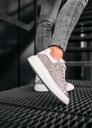Кросівки  mcqueen glitter-leather кроссовки