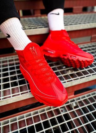 "Nike air max sneakerboot 95 ""red"" кроссовки мужские найк"