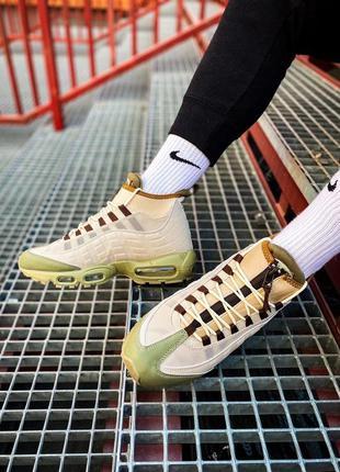 "Nike air max sneakerboot 95 ""beige"" кроссовки мужские найк"