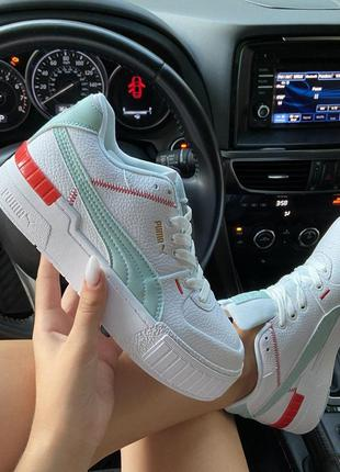 Кроссовки: puma select cali sport white blue.
