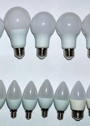 Светодиодные лампочки, LED-лампочки, свеча, E14, E27
