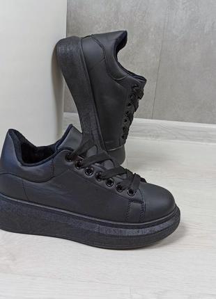 Кросівки кріпери кроссовки кроссы криперы чёрные утеплённые на...