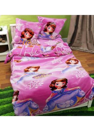 Детское постельное белье ткани Бязь Gold — Принцесса София
