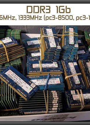 Память DDR3 1Gb Sodimm 8500 10600 PC3 1066 1333 ноутбук ОПТ 10...