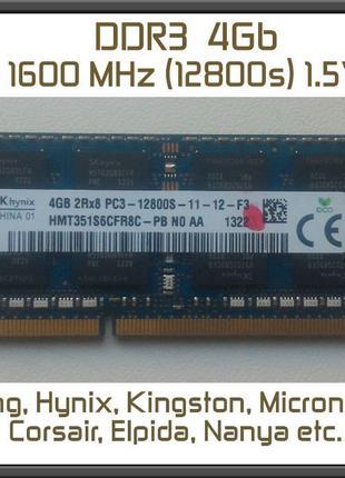 DDR3 PC3 4gb ОЗУ Sodimm 1600 | 12800 Оперативная память ноутбу...