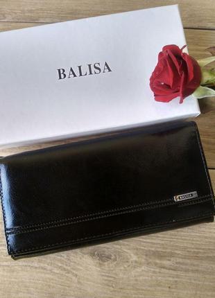 Жіночий чорний гаманець з еко шкіри balisa