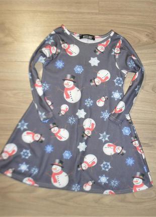 Платье с рукавом на 4-6лет