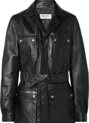Трендовая удлиненная кожанка куртка, курточка натуральная кожа...