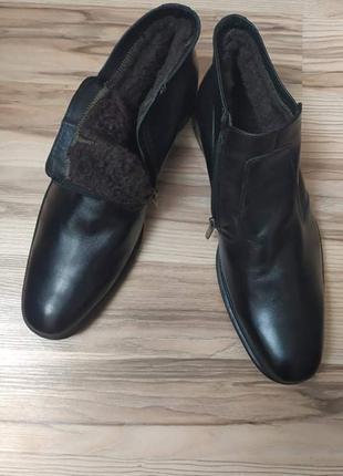 Кожаные зимние ботинки best quality