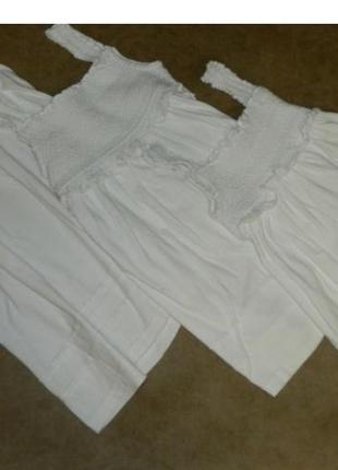 Сарафан белый комплект набор для фотосессии для девочек okay
