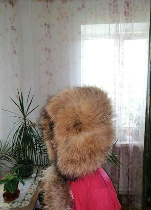 Шапка зимняя, шапка на девочку, шапка из натурального меха