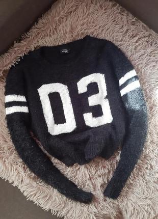 Укороченный свитер травка свитшот
