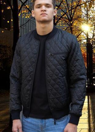 Демисезонная мужская куртка стеганная осень весна