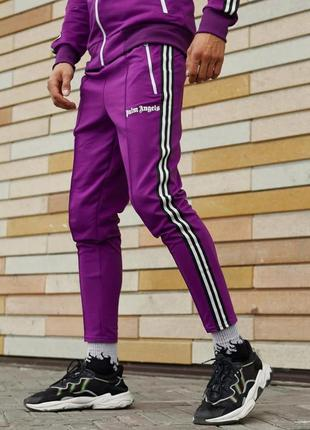 Спортивные штаны palm angels origin фиолетовые