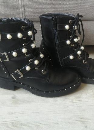 Крутые ботинки /сапоги/гриндерсы /мартинсы на шнурках и замке....