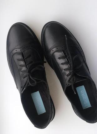 Туфли чёрные кожаные