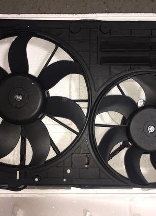 Диффузор в сборе ( с вентиляторами и моторчиком)