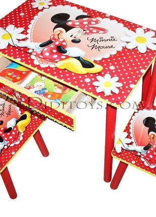 Детский столик Минни Маус. Варианты. От производителя