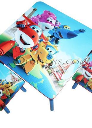 Дитячий стол зі стільцем Супер крила. Вибір малюнків. Від виро...