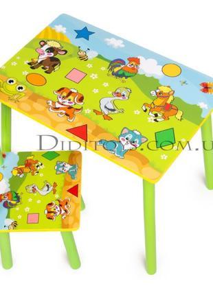 Детский столик и стул Геометрия ( варианты). От производителя