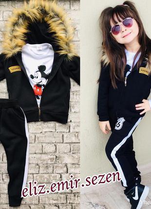 Детский осенний костюм Микки Маус 3в1