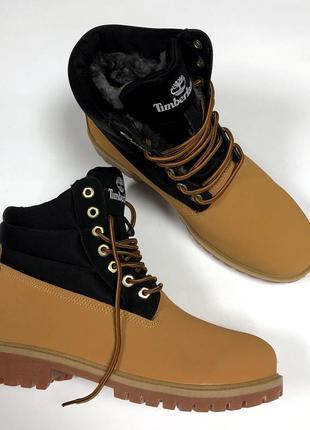 Мужские зимние ботинки с мехом timberland.