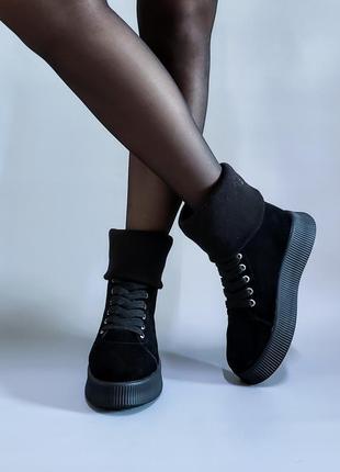 Ботинки натуральная итальянская замша р35-41 сапоги кеды черев...