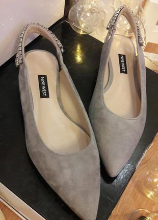 Туфли замшевые женские nine west