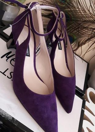 Туфли женские замшевые nine west