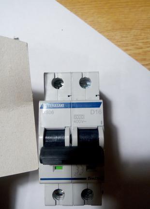 автоматический выключатель двохполюсные D 16