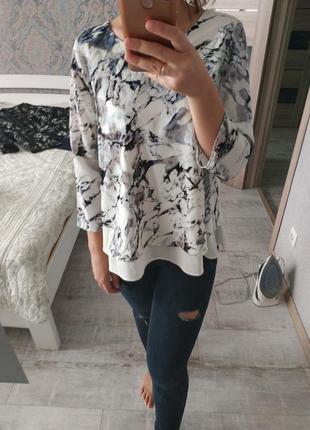 Красивая блуза интересная спинка акварель цветы