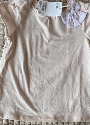 Нарядная футболка для девочки h&m