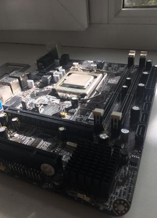 Материнская плата 1156 + поцессор i5 650 комплект (игровой,офисны