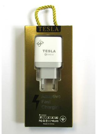 СЗУ Tesla 5G Fast  3.0 Блок ЗАРЯДКИ