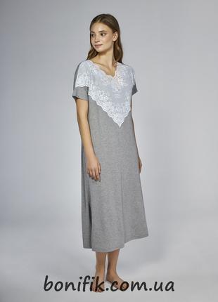 Женская удлинённая ночная сорочка размер XXXL арт. LNP 283/001