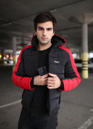 """Зимняя куртка intruder """"impression"""" красно-черная."""