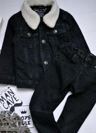 Офигенный джинсовый пиджак и штаны костюм river island
