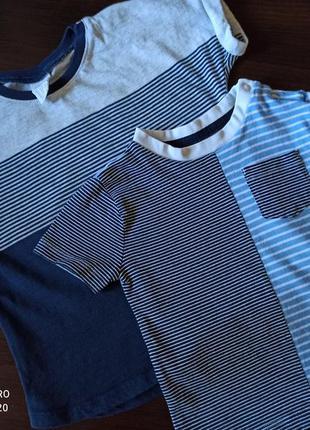 Набор футболок h&m и f&f для мальчика на 1,5-2 года