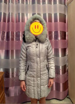 Куртка с натуральным мехом песца