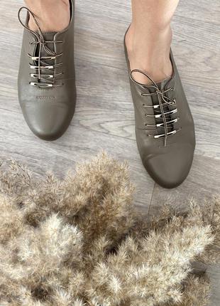 Кожаные туфли, оксфорды, туфли на шнуровке
